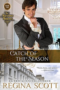 Cover of Catch of the Season, book 2 in The Marvelous Munroes series by Regina Scott