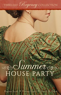 cover for Summer House Party, which features the novella An Engagement of Convenience by Regina Scott