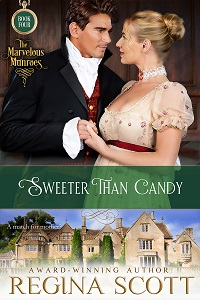 Cover for Sweeter Than Candy, a Marvelous Munroes novella by historical romance author Regina Scott