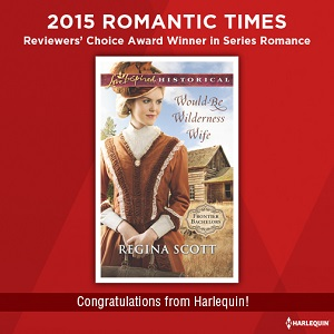 RT Book Reviews award for Would-Be Wilderness Wife by Regina Scott