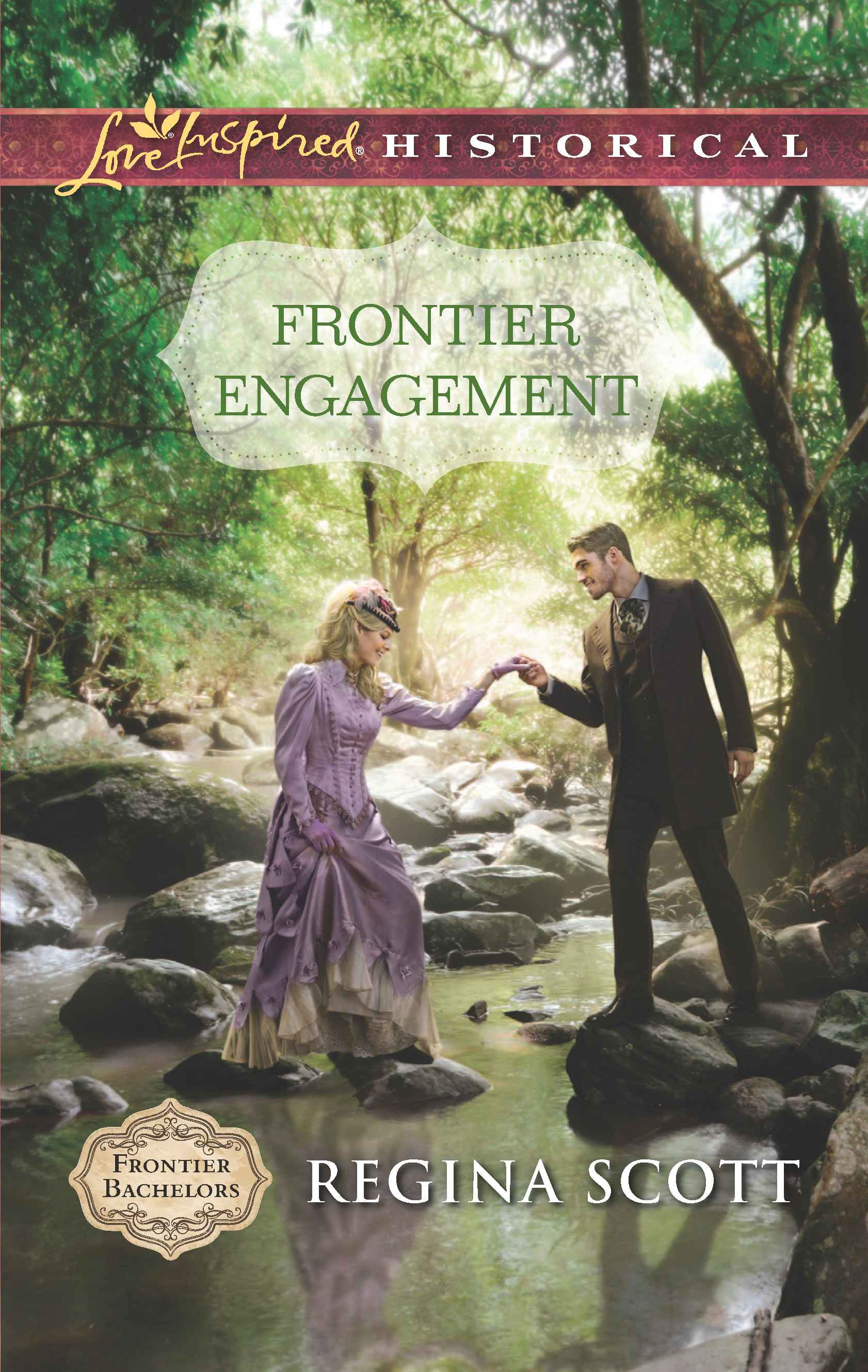 Cover for Frontier Engagement by Regina Scott, Book 3 in the Frontier Bachlors series