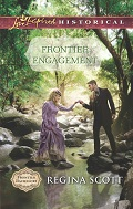 Cover for Frontier Engagement, book 3 in the Frontier Bachelors series by historical romance author Regina Scott