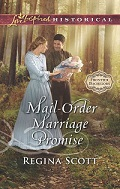 Cover for Mail-Order Marriage Promise, book 6 in the Frontier Bachelors series by historical romance author Regina Scott