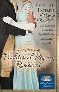 A Taste of Traditional Regency Romance, featuring excerpts from the Bluestocking League