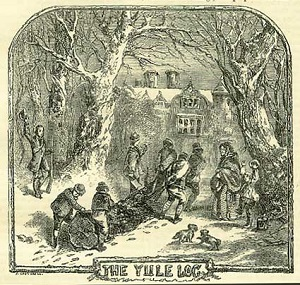Bringing in the Yule Log was a Regency Christmas tradition